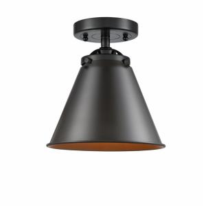 Appalachian-1 Light Semi-Flush Mount in Industrial Style-8 Inches Wide by 8.5 Inches High