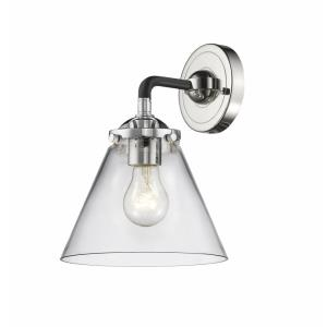 Large Cone-1 Light Wall Sconce in Transitional Style-7.75 Inches Wide by 9.25 Inches High