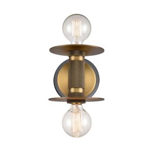"Aurora - 5.88"" Two Light Wall Sconce"