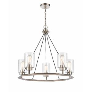 Mila - 29 Inch 17.5W 5 LED Chandelier