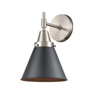 Caden-1 Light Wall Sconce in Retro Style-8 Inches Wide by 11.38 Inches High