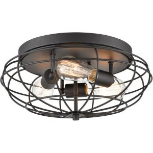 Muselet - Three Light Flush Mount
