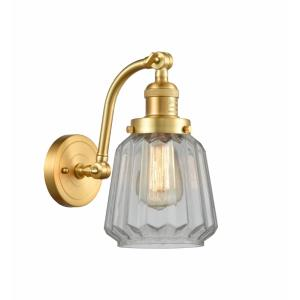 Chatham-1 Light Wall Sconce in Art Deco Style-6 Inches Wide by 11.5 Inches High