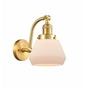 Fulton-1 Light Wall Sconce in Industrial Style-7 Inches Wide by 11.5 Inches High