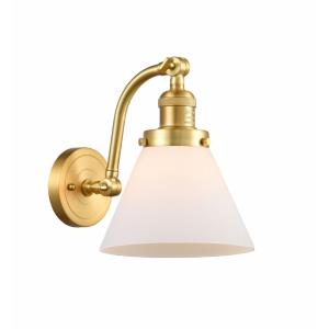 Large Cone-1 Light Wall Sconce in Industrial Style-8 Inches Wide by 11.5 Inches High