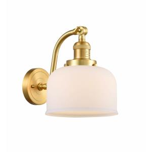 Large Bell-1 Light Wall Sconce in Industrial Style-8 Inches Wide by 11.5 Inches High