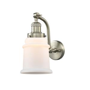 Canton-1 Light Wall Sconce in Industrial Style-6.5 Inches Wide by 11.5 Inches High