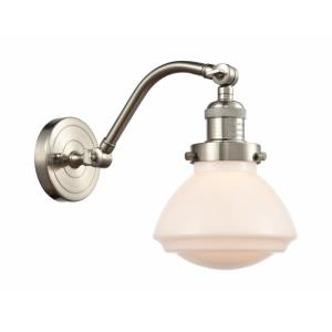 Olean-1 Light Wall Sconce in Industrial Style-6.75 Inches Wide by 12.25 Inches High