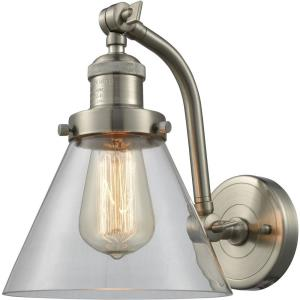 One Light Double Swivel Wall Sconce-8 Inches Wide by 10 Inches High