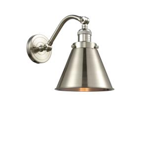 Appalachian-1 Light Wall Sconce in Traditional Style-8 Inches Wide by 11.5 Inches High