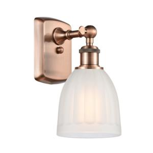 Brookfield-1 Light Wall Sconce in Art Nouveau Style-5.75 Inches Wide by 9 Inches High