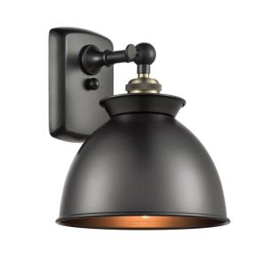 Adirondack-1 Light Wall Sconce in Industrial Style-8.13 Inches Wide by 12 Inches High