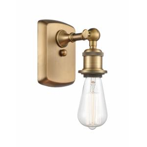 Bare Bulb-1 Light Wall Sconce in Industrial Style-4.5 Inches Wide by 7 Inches High