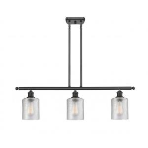 Cobbleskill-10.5W 3 LED Island in Art Nouveau Style-36 Inches Wide by 10 Inches High
