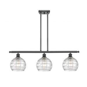 Deco Swirl-10.5W 3 LED Island in Industrial Style-36 Inches Wide by 11 Inches High