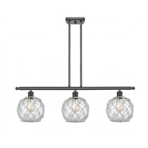Farmhouse Rope-10.5W 3 LED Island in Industrial Style-36 Inches Wide by 11 Inches High