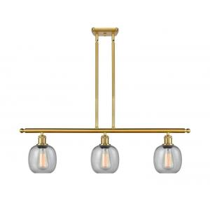 Belfast-10.5W 3 LED Island in Industrial Style-36 Inches Wide by 10 Inches High