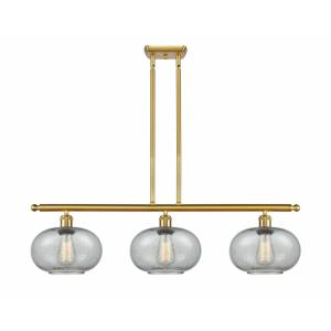 Gorham-3 Light Island in Industrial Style-36 Inches Wide by 10 Inches High