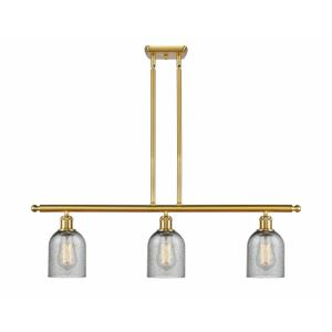 Caledonia-3 Light Island in Industrial Style-36 Inches Wide by 10 Inches High