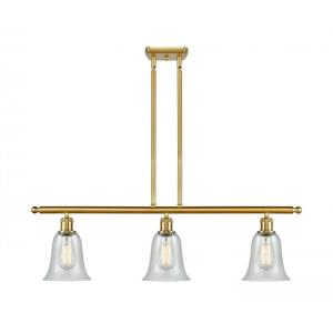 Hanover-10.5W 3 LED Island in Industrial Style-36 Inches Wide by 12 Inches High