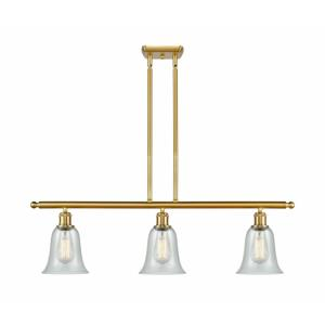 Hanover-3 Light Island in Industrial Style-36 Inches Wide by 12 Inches High