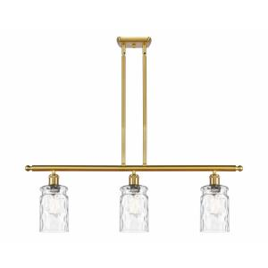 Candor-3 Light Island in Industrial Style-36 Inches Wide by 11 Inches High