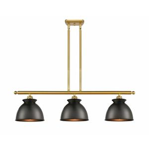 Adirondack-3 Light Island in Industrial Style-36 Inches Wide by 11 Inches High