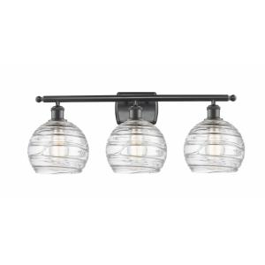 Deco Swirl-3 Light Bath Vanity in Industrial Style-26 Inches Wide by 13 Inches High