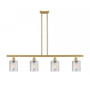 Cobbleskill-14W 4 LED Island in Art Nouveau Style-48 Inches Wide by 10 Inches High