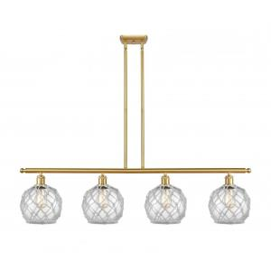 Farmhouse Rope-14W 4 LED Island in Industrial Style-48 Inches Wide by 10 Inches High