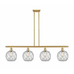Farmhouse Rope-4 Light Island in Industrial Style-48 Inches Wide by 10 Inches High