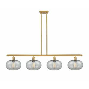 Gorham-4 Light Island in Industrial Style-48 Inches Wide by 10 Inches High