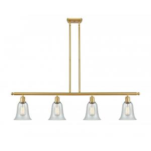 Hanover-14W 4 LED Island in Industrial Style-48 Inches Wide by 12 Inches High