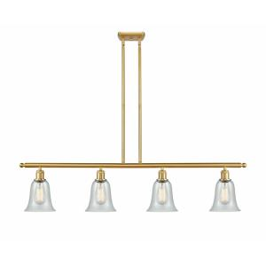 Hanover-4 Light Island in Industrial Style-48 Inches Wide by 12 Inches High