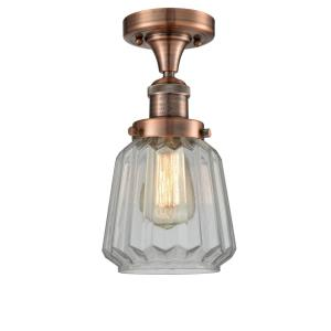 Addison-One Light Semi-Flush Mount-7 Inches Wide by 6 Inches High
