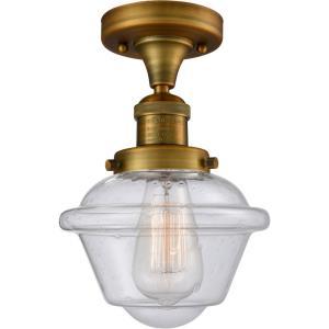 Small Oxford - 11 Inch 1 Light Semi-Flush Mount