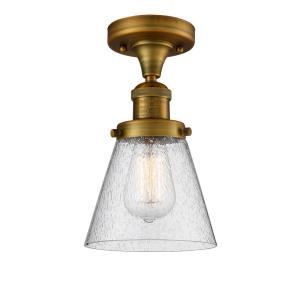 Small Cone - One Light Semi-Flush Mount