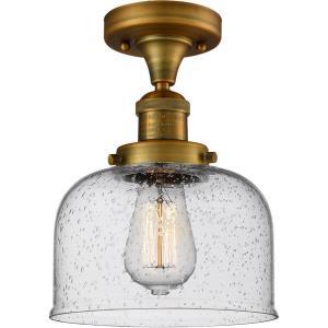 Large Bell - One Light Semi-Flush Mount