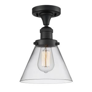 Large Cone - 11.5 Inch 1 Light Semi-Flush Mount