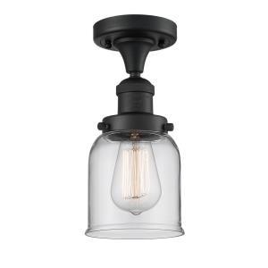Small Bell - 9 Inch 1 Light Semi-Flush Mount
