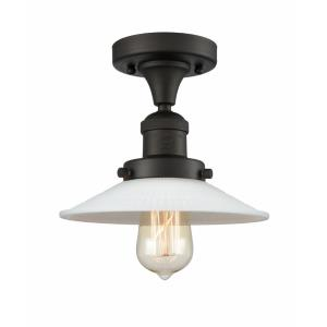 Halophane - 8.5 Inch 1 Light Semi-Flush Mount
