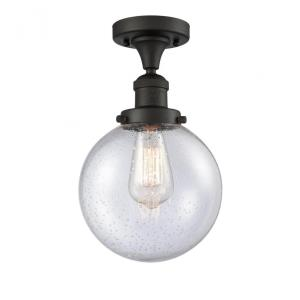 Large Beacon-3.5W 1 LED Semi-Flush Mount in Industrial Style-8 Inches Wide by 13.25 Inches High