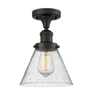 Large Cone - One Light Semi-Flush Mount
