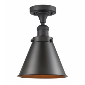 Appalachian-1 Light Semi-Flush Mount in Traditional Style-8 Inches Wide by 10 Inches High