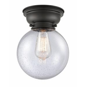 Large Beacon-1 Light Flush Mount in Industrial Style-8 Inches Wide by 9.15 Inches High