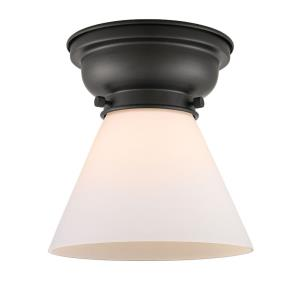 Large Cone - 1 Light Flush Mount