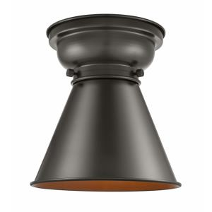 Appalachian-1 Light Flush Mount in Traditional Style-8 Inches Wide by 7.53 Inches High
