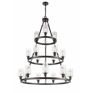 Saloon-18 Light 3-Tier Chandelier in Industrial Style-48 Inches High