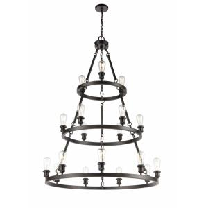 Saloon-18 Light Chandelier in Industrial Style-48 Inches High