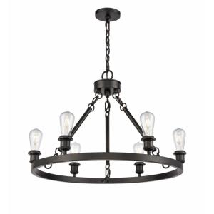 Saloon - 30 Inch 21W 6 LED Chandelier